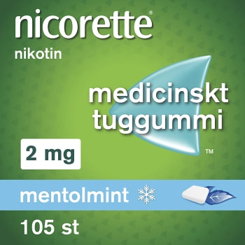 Nicorette Mentolmint Medicinskt tuggummi 2mg 105-p