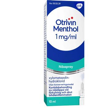 Otrivin Menthol Nässpray 1mg/ml 10ml