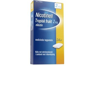 Nicotinell Tropisk frukt Medicinskt tuggummi 2mg 24-p