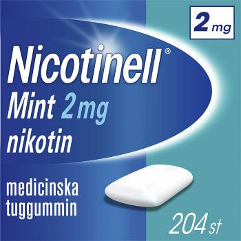 Nicotinell Mint Medicinskt tuggummi 2mg 204-p