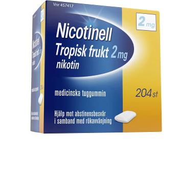 Nicotinell Tropisk frukt Medicinskt tuggummi 2mg 204-p