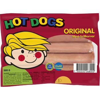 Grillkorv Orginal 500g Hot Dogs