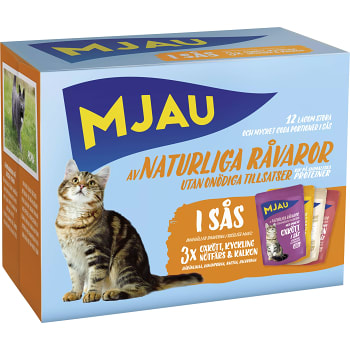 Kattmat Multibox Köttsmaker i sås 1.02kg Mjau