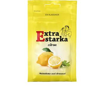 Halstabletter Extra starka Citron 80g Karamellpojkarna