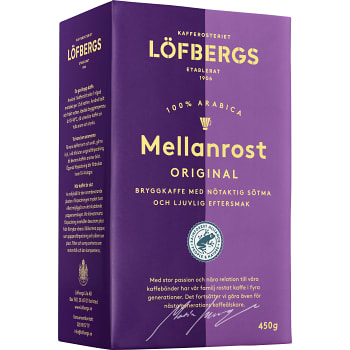Bryggkaffe Mellanrost 450g Löfbergs