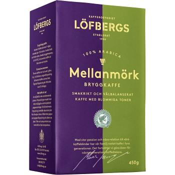 Bryggkaffe Mellanmörk 450g Löfbergs
