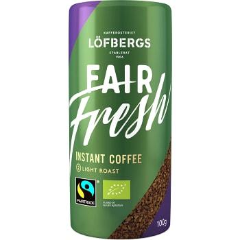 Snabbkaffe Fair Fresh Ekologisk 100g Fairtrade Löfbergs
