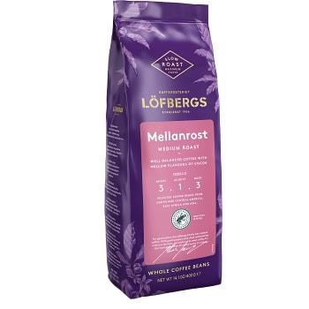 Kaffe Mellanrostade Fika hela bönor 400g Löfbergs