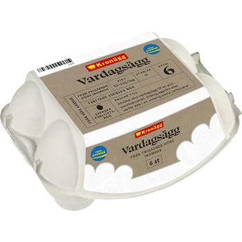 Ägg Frigående 6-p Kronägg