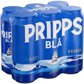 Öl 3,5% 50cl 6-p Pripps Blå