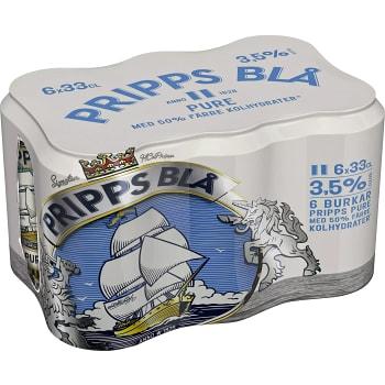 Öl Pure 3,5% 33cl 6-p Pripps Blå