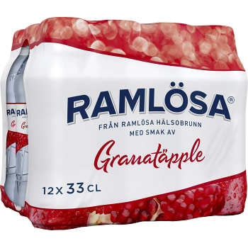 Vatten Kolsyrad Granatäpple 33cl 12-p Ramlösa