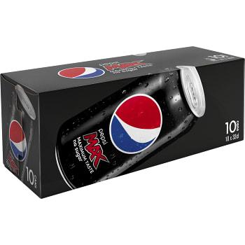Läsk Pepsi Max Burk 33cl 10-p Pepsi