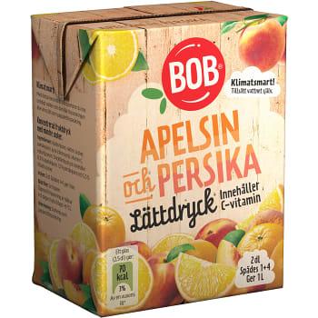 Lättdryck Apelsin & persika Koncentrat 2dl BOB