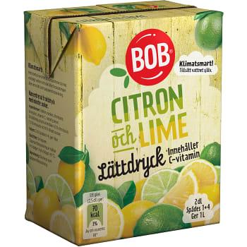 Lättdryck Citron & lime Koncentrat 2dl BOB