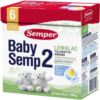 Babysemp2 Lemolac Från 6m 500g Semper