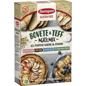 Bovete & teff mjöl Glutenfri 500g Semper