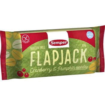 Flapjack Cranberry & pumpkin seed Glutenfri 85g Semper