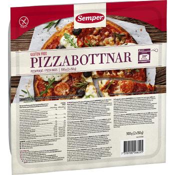 Pizzabottnar Glutenfria 300g Semper