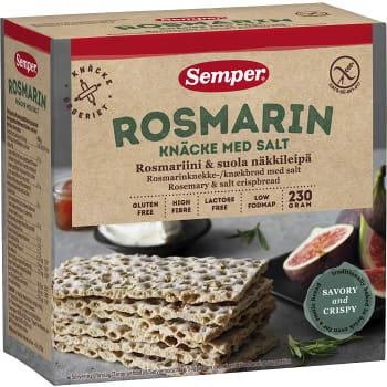 Rosmarinknäcke med Salt Glutenfri 230g Semper