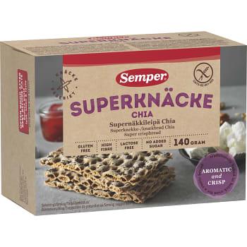 Superknäcke Chia 140g Semper