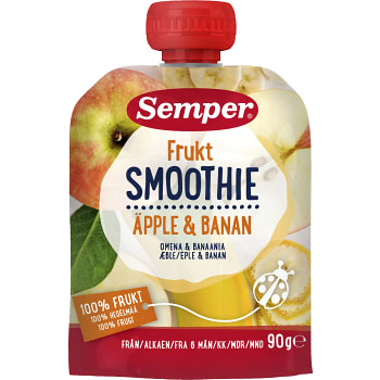 Smoothie Äpple & banan Från 6m 90g Semper