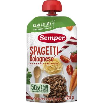 Spagetti bolognese Från 6m Semper