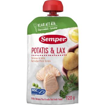 Barnmat Potatis & lax 6m 120g Semper