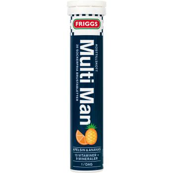 Multi man Apelsin & ananas Sockerfri brustablett Kosttillskott 20-p 1000mg Friggs