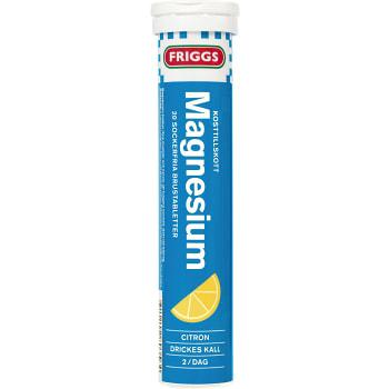 Magnesium Citron Sockerfri brustablett Kosttillskott 20-p 1000mg Friggs
