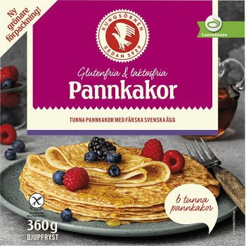 Pannkakor gluten & laktosfria frysta 360g Kungsörnen