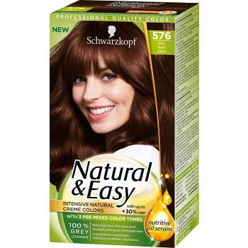 576 Kastanj Hårfärg 1-p Natural & Easy Schwarzkopf