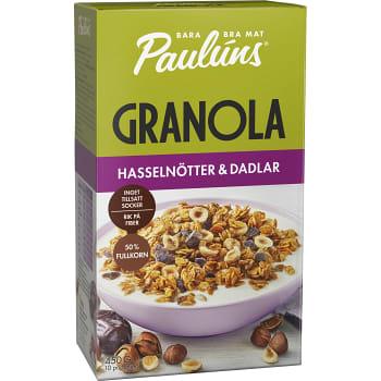 Granola Hasselnötter & dadlar 450g Paulúns