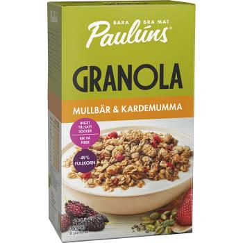Granola Mullbär & kardemumma 450g Paulúns