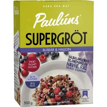 Supergröt Blåbär & hallon 500g Paulúns