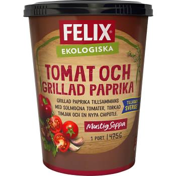 Tomat & grilladpaprikasoppa Ekologisk 475g Felix