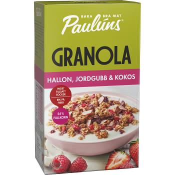 Granola Hallon Jordgubb 450g Pauluns