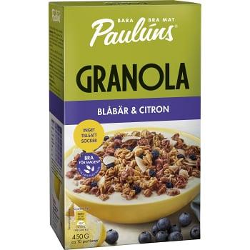 Granola Blåbär Citron 450g Pauluns