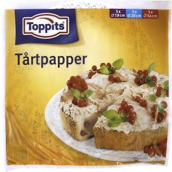 Tårtpapper Rund 15-p Toppits