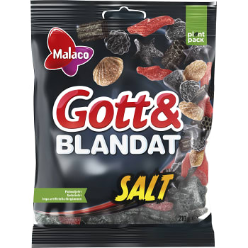 Gott & blandat Salt 210g Malaco