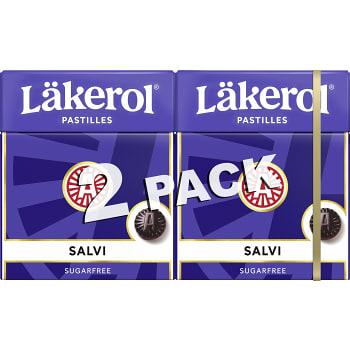 Halstabletter Salvi 2-p Sockerfri 50g Läkerol