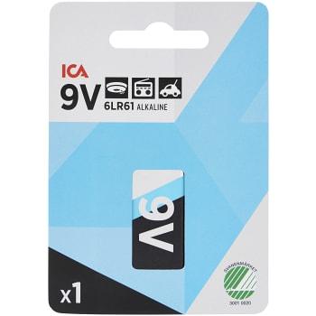 Batteri 9V 6LR61 1-p ICA Home