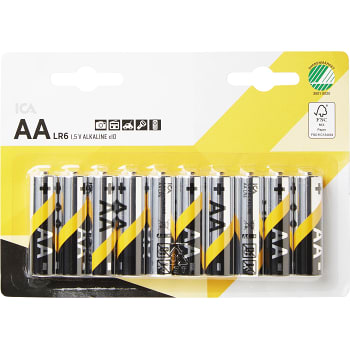 Batteri AA LR6 10-p ICA Home