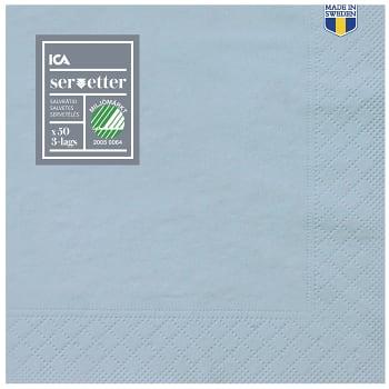 Servett Duvblå 40cm 50-p ICA Home