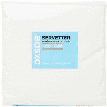 Servett Vit 33cm 100-p ICA Basic