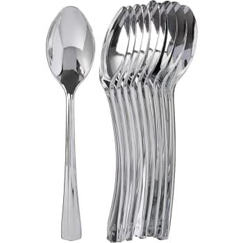 Engångsmatsked Silver 10-p ICA Cook & Eat