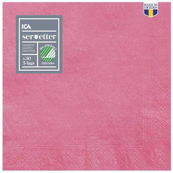 Servett Cerise 40cm 50-p ICA