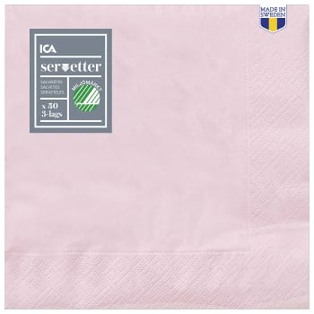 Servett Ljusrosa 40cm 50-pack ICA Home