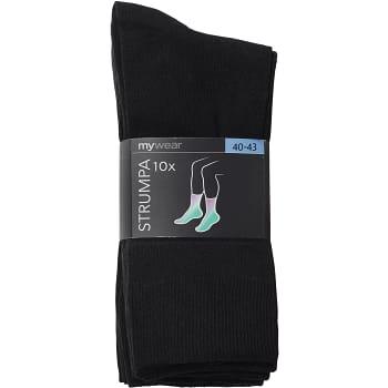Socka Svart Stl 40/43 10-p mywear