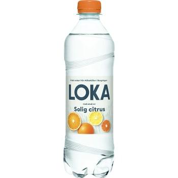 Vatten Kolsyrad Solig citrus 50cl Loka